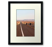 Bikers on Route 66 Framed Print