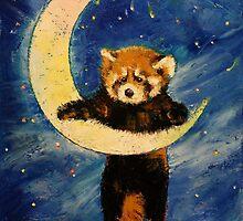 Red Panda Stars by Michael Creese