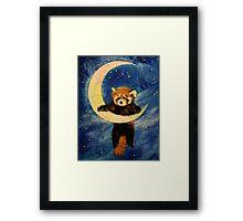 Red Panda Stars Framed Print