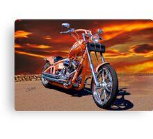2004 H.D. 'Daddy's Dream' Chopper II Canvas Print