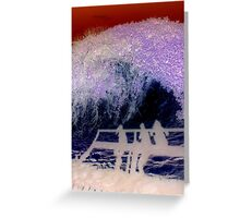 Tsunami coming at the end of the pier Greeting Card
