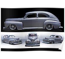 1947 Ford Deluxe 8 Custom Sedan Poster
