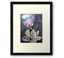Moonlight and Magnolia Framed Print
