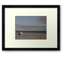 Monkey Mia Tide is Out Framed Print