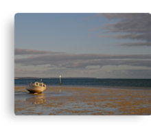 Monkey Mia Tide is Out Canvas Print