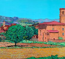 Tuscan Farm Village by Allan P Friedlander