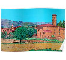 Tuscan Farm Village Poster