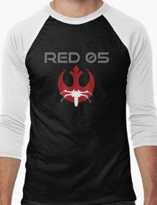 Red Squadron 05 Men's Baseball ¾ T-Shirt