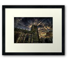 Dusk At Loughborough Church Framed Print