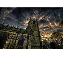 Dusk At Loughborough Church Photographic Print