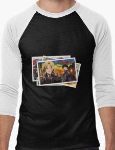 fullmetal alchemist edward elric roy mustang pictures anime manga shirt Men's Baseball ¾ T-Shirt