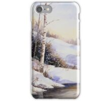 Watercolour winter scene iPhone Case/Skin