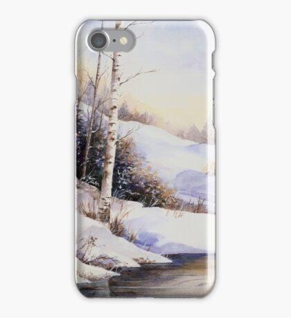 Watercolour winter scene iPhone Case/Skin