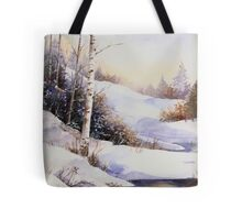 Watercolour winter scene Tote Bag