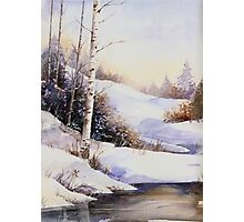 Watercolour winter scene Photographic Print