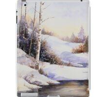 Watercolour winter scene iPad Case/Skin