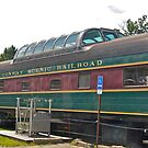 A Restored Dome Coach at Conway Scenic RR - New Hampshire - US by Jack McCabe
