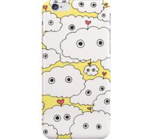 cuttie cloudy mellow yellow iPhone Case/Skin