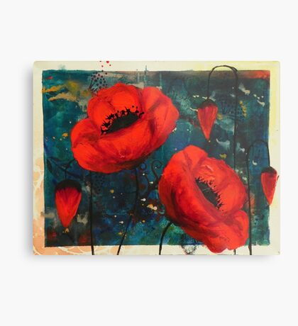 Poppies: courage Metal Print