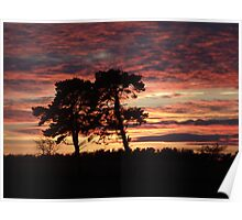 Sunset over Morpeth Poster