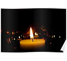 Reflections By Candlelight Poster