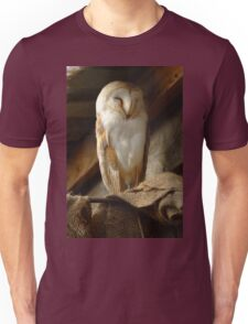 Barn Owl Sleeping Unisex T-Shirt