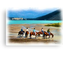 Lake Louise by Horse (digital art) Canvas Print