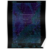 USGS Topo Map Oregon Hat Point 280166 1990 24000 Inverted Poster