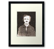 A Portrait of Edgar Allen Poe Framed Print