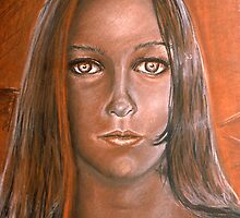 BURNT SIENNA PORTRAIT by Tiff Randol