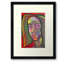 MULTI-COLORED SELF PORTRAIT Framed Print