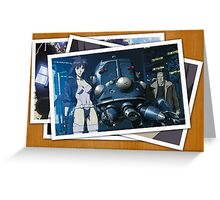 ghost in the shell motoko kusanagi batou pictures anime manga shirt Greeting Card