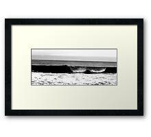 Scarborough Rough Seas  Framed Print