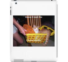 Drunk cat iPad Case/Skin
