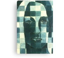 Pixel Self Portrait Canvas Print
