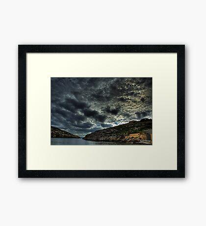 Isolated bay Framed Print