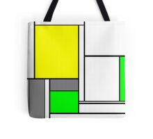 Faux Mondrian August Tote Bag