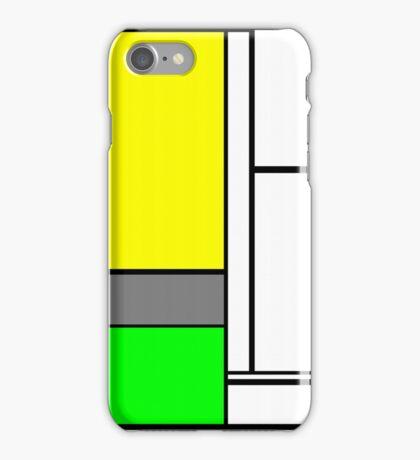 Faux Mondrian August iPhone Case/Skin