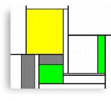 Faux Mondrian August Canvas Print