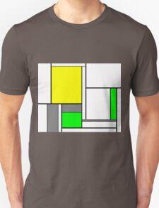 Faux Mondrian August Unisex T-Shirt
