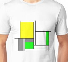 Faux Mondrian August Unisex T-Shirt