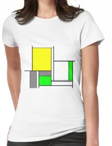 Faux Mondrian August Womens Fitted T-Shirt