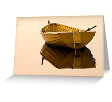 Boat afloat Greeting Card