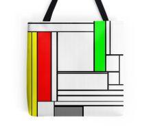 Faux Mondrian February Tote Bag
