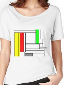 Faux Mondrian February Women's Relaxed Fit T-Shirt