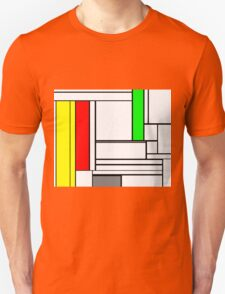 Faux Mondrian February Unisex T-Shirt