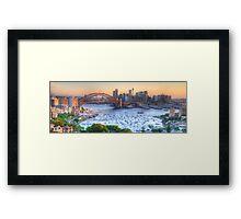 La Stupenda - Sydney Harbour, Sydney  Australia - The HDR Experience Framed Print
