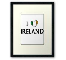 I Love Ireland Framed Print