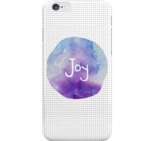Watercolor Joy: Purple and Blue iPhone Case/Skin