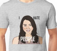 April Ludgate Hates People Unisex T-Shirt